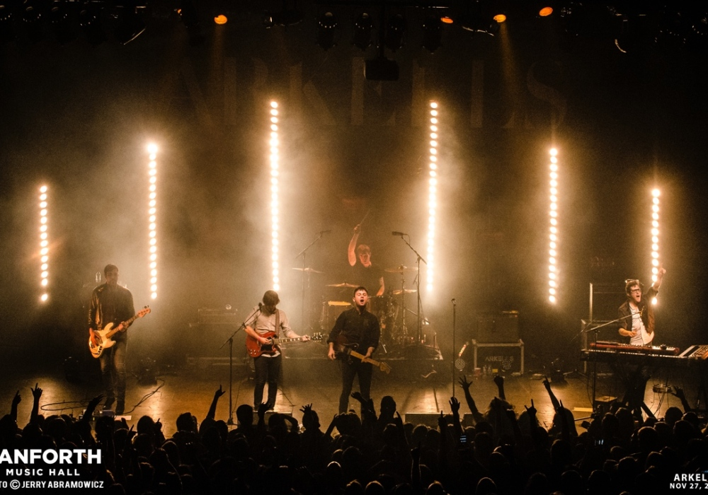 Rock band, the Arkells, onstage at The Danforth Music Hall.
